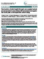 Publication: BMC Musculoskeletal Disorders